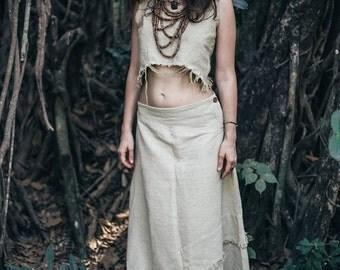Skirt And Top ~ frayed Bottom ~