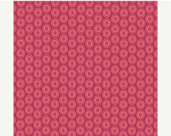 SALE - Oval Elements in CRANBERRY (OE-913) - Pat Bravo for Art Gallery Fabrics - By the Yard