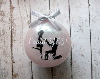 Engagement Ornament - Our First Christmas Ornament Married - Just Married Ornament - Married Ornament - Newlywed Gift - Gifts for Newlyweds