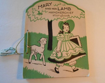 vintage Mary and her Lamb handkerchief storybook