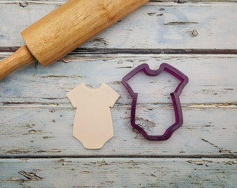 Baby Onesie or Baby Bunting Cookie Cutter and Fondant Cutter and Clay Cutter