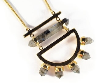 Moon Gazer statement necklace