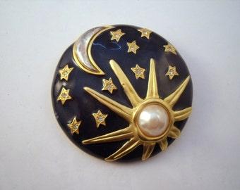 Karl Largerfeld Sun Moon Stars brooch