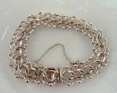 Elco Sterling Chain Bracelet Charm Bracelet