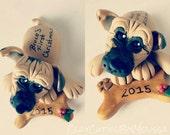 Dog Ornament Personalized Puppy Ornament Dog Magnet Pet Lover Memorial dog Birthday Christmas Gift Personalized Custom Handmade Keepsake