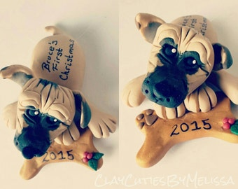 Dog Ornament Personalized Puppy Ornament Dog Magnet Pet Lover Memorial dog Birthday Christmas Gift Personalized Custom Handmade Keepsake