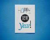 Happy new year - printable card