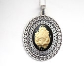 Ouija Cameo Chain Link Necklace