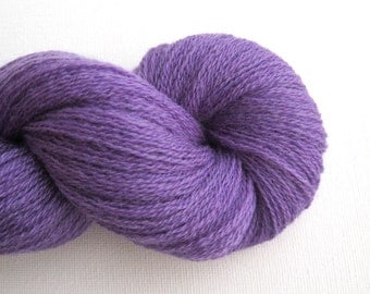 Lace Weight Merino Wool Recycled Yarn, Violet, Lot 010216