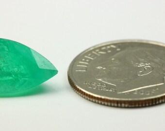 3.0 cts medium dark loose natural Colombian emerald pear