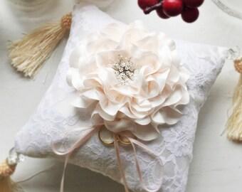 Signature Peony Ring Pillow/Cushion with Swarovski Elements