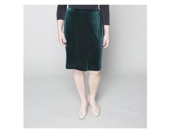 Straight Velvet Skirt 4 lengths Misses & Plus Sizes 2-28