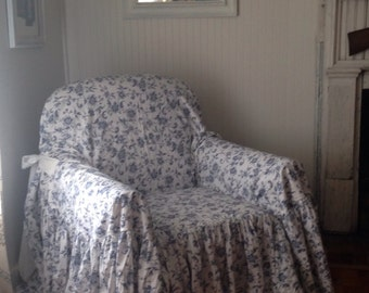 "shabby chic chair slipcover  ""throw"""