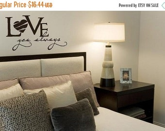 15% OFF LOVE you always -Vinyl Lettering wall words graphics Home decor itswritteninvinyl