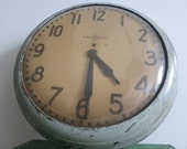 Reserved for Lisa - Antique Schoolhouse Wall Clock