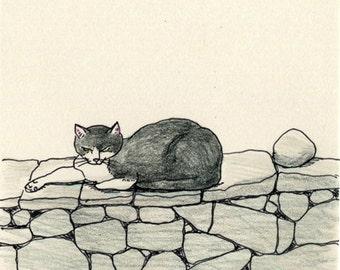Cat original drawing - P003July2016
