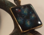 Hand Layered Hubble Telescope Pleiades Star Cluster 3D Resin Pendant