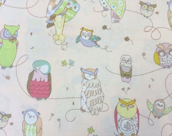 Sale - Spotted Owl pink - Alexander Henry - Fabric - BTY - 1 yard