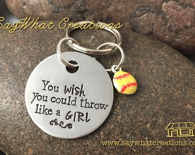 Softball Key Chain You WISH you could throw like a Girl