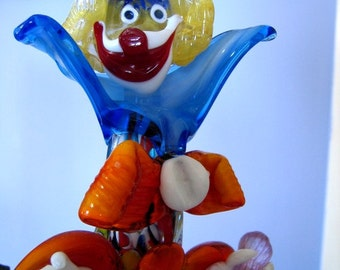 MURANO GLASS CLOWN Vintage Collector's Item