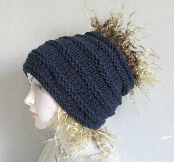 Knitting Pattern For Dreadlock Hat : Knit Dreadlocks accessory Mens dreadlock tube hat by recyclingroom