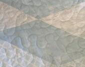 "Blue/white  -Fabrics from Laura Gunn/Michael Hoffman/Amy Hamberlin  - 54.5"" x 75"" - Contemporary/Modern - Ready to Ship"
