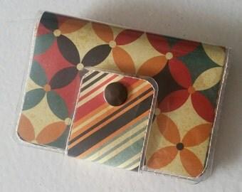 Cash/Card Wallet - Autumn Pallette/Walla Wallat, charming, christmas, gift, quilt, ID case, card/cash case, vinyl wallet, snap wallet