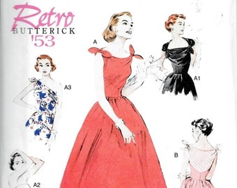 Butterick B5708 Retro 1950s Reissue Womens Rockabilly Dress Sewing Pattern UNCUT Sizes 6, 8, 10, 12 and 14