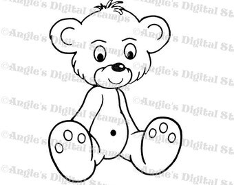 Teddy Bear Digital Stamp Image