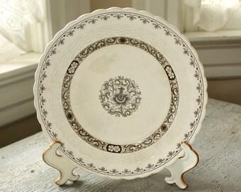 Antique English Transferware Lunch Plate 19th c Minton