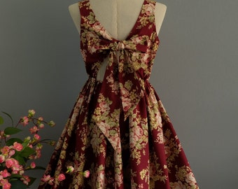 Burgundy dress red floral dress red party dress floral party dress floral sundress burgundy bridesmaid dresses floral bridesmaid dresses