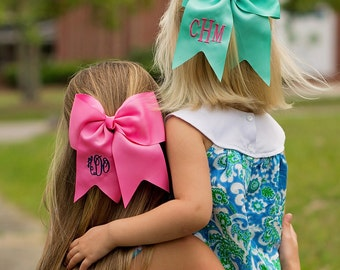 Oh so girly...monogrammed hair bows