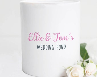 Wedding Fund Personalised Money Box