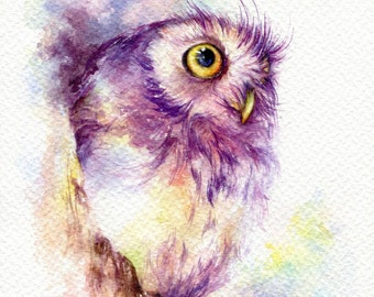 PRINT – Hello World Watercolor painting 7.5 x 11""
