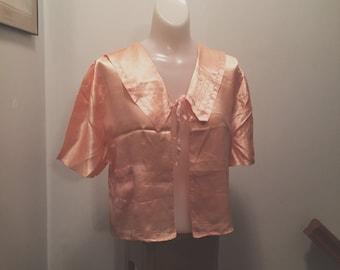 SALE 1930s Silk Bed Jacket