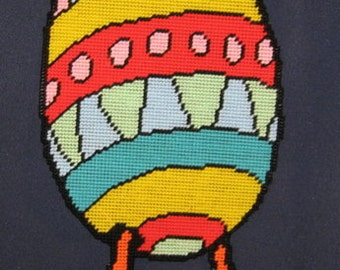 Egg With Leggs Plastic Canvas Pattern