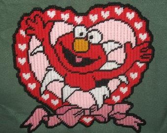 Elmo's Valentine Plastic Canvas Pattern