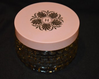 Pink Skin Cream Jar by Houbigant-Empty