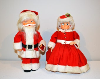 SALE:  Vintage Mr. & Mrs Claus 1970's