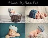 hat crochet patterns, crochet hat patterns, beanie crochet patterns, crochet pattern, crochet patterns for boys, photo prop patterns