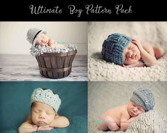 hat crochet patterns, crochet hat patterns, beanie crochet patterns, crochet pattern, crochet patterns for boys, photo prop patterns