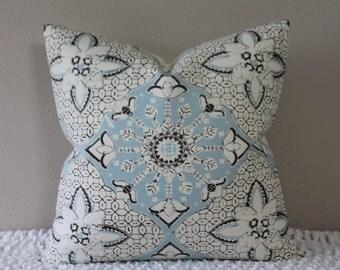 "China Seas by Quadrille - New Batik Cloud - 18"" or 20"" Decorative Designer Pillow Cover"