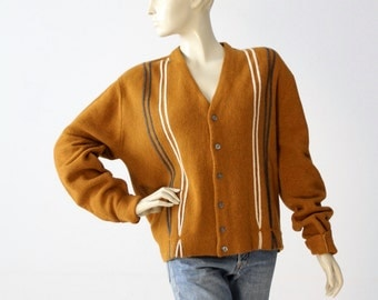 vintage 60s Walter Scott Company cardigan, men's sweater