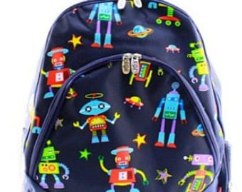 Personalized Canvas Robot Backpack