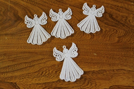 machine free standing lace angels