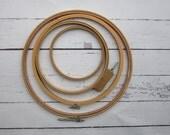 Vintage  Embroidery Hoop Set of 4