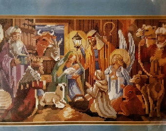 Bucilla Vintage Christmas Nativity Counted Cross Stitch Kit Designed by Nancy Rossi