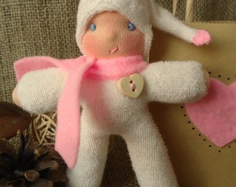 A Waldorf Inspired Just Because Gnome Toy Gift- Pink