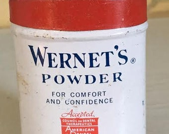 Wernet's dental powder sample size tin