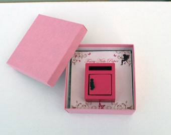 Miniature pink fairy mail box